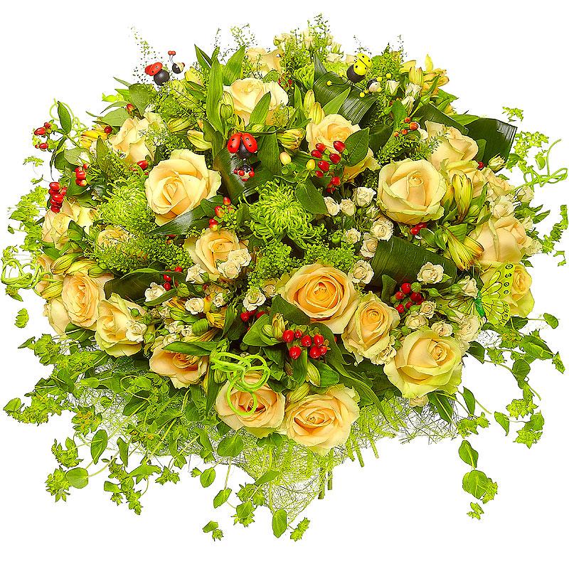 Поздравления с букетами цветов 800